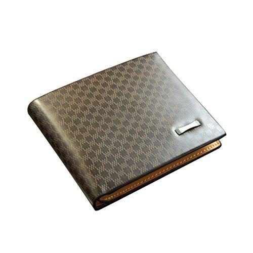 Light Coffee Mens Leather Wallet Purse Money Clip Billhold - Lite Purse