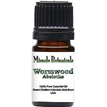 Miracle Botanicals Wormwood (Absinthe) Essential Oil - 100% Pure Artemisia Absinthium - Therapeutic Grade - 5ml