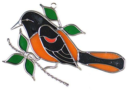 Oriole Bird Stained Glass Sun ()