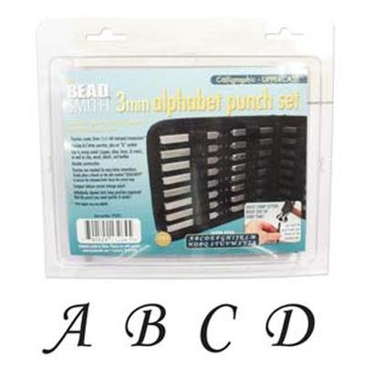 UPC 790524132645, 27 Piece Uppercase Calligraphy Alphabet Letters Punch Set For Metal 3mm