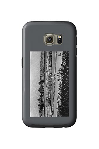 Los Angeles, California - The Home Stretch at Santa Anita Track (Galaxy S6 Cell Phone Case, - Santa Anita Mobile