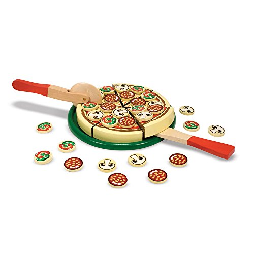 Melissa & Doug Pizza Party Wooden Play Food Set With 54 Toppings by Melissa & Doug (Image #4)