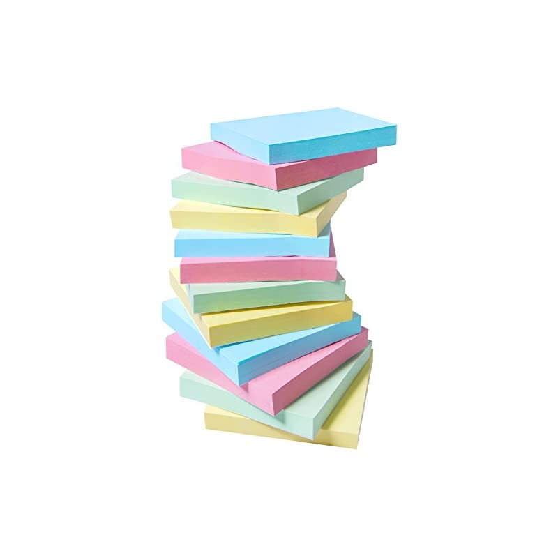 12 Pads Sticky Notes, 3x3 Inch Self-Stic