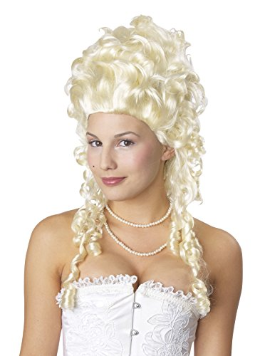 UHC Baroque Wig Blonde Marie Antoinette Curls Womens Halloween Costume Accessory -