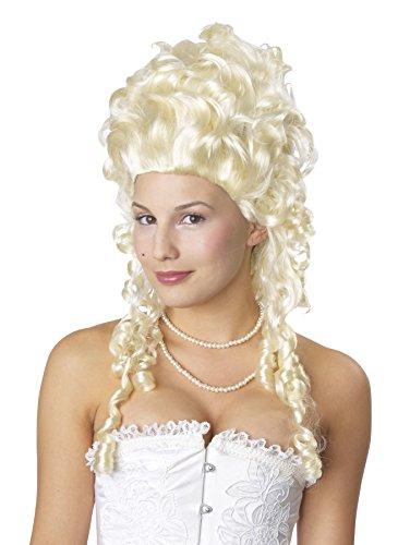 (UHC Baroque Wig Blonde Marie Antoinette Curls Womens Halloween Costume)