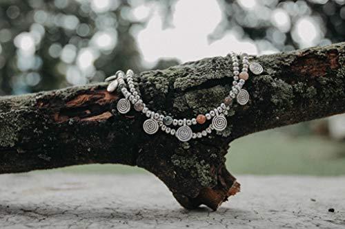 Changnoi Fancy Silver Chain Anklet Bracelet, Boho Anklet, Bohemian Anklet, Hippie Anklet, Thai Artisan Anklet, Silver Anklet