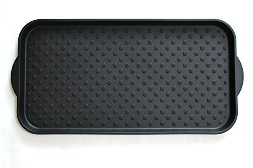 Muddy Mat All-Purpose Boot Tray - Waterproof Floor Protection for Shoes and Pet Bowls - 2.5 x 1.2-Feet (Tray Rubber Large)
