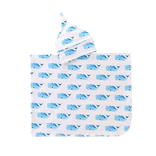 Newborn Receiving Blankets Elephant Baby Swaddle Wrap Soft Zoo Animals boy swaddling Blanket (G) ()