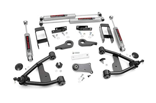 Rough Country - 24230 - 2.5-inch Suspension Leveling Lift Kit w/ Premium N3 Shocks for Select Chevy S10 / GMC S15 (Pickups, Blazer, ()