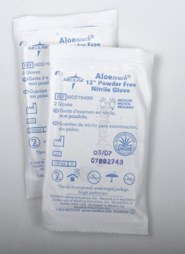 Aloetouch Sterile Nitrile Exam Gloves Large/Case of 200