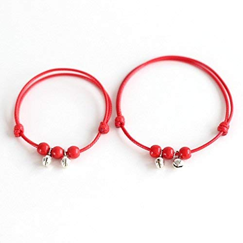 Zicue Stylish Charming Bracelet Exquisite Ornaments Manual DIY creative ceramic bracelet red rope this year by Clifford furnishings