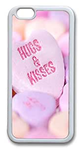 Nice iPhone 6 Cases, ACESR Hugs And Kisses Back Cover Case for Apple iPhone 6(4.7inch) TPU White
