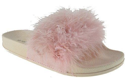 Extra Pillow Fur Faux Blush Top On Women Softy Fluffy 1 Sandals Slider Slip Moda 45wq5U7