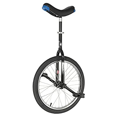 Hoppley Unicycle 20 BLACK - Trainer Round Crown Frame - Nimbus Seat post Clamp-