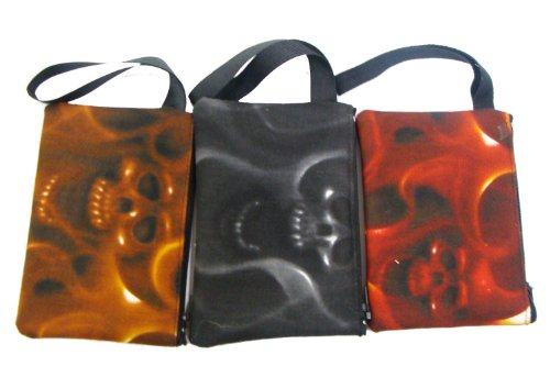 US Handmade Fashion A Pack of 6 Piece Electronic device clutch purse, pouch wristband makeup bag, cosmetic bag SKULLS ON FIRE Day of the Dead Rocakbilly Handmade handbag purse Alexander (Rockabilly Halloween Mix)