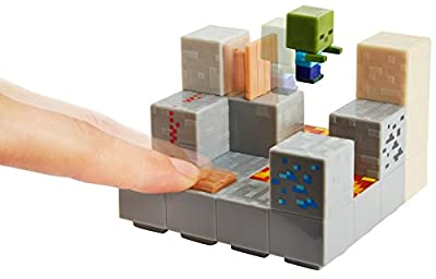 Minecraft Mini Figure Piston Push Environment Set from Mattel