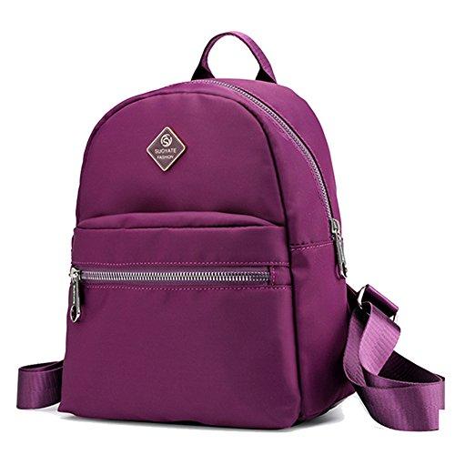 ZhuiKunA Mochila Versátil de Mujer Pequeña Informal Estudiantes Gimnasio Paquete Púrpura