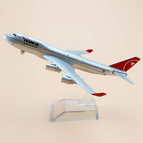 ZAMTAC Alloy Metal Air American NWA Northwest Airlines B747 Airplane Model NWA Boeing 747 Airways Plane Model Aircraft Kids Gifts 16cm