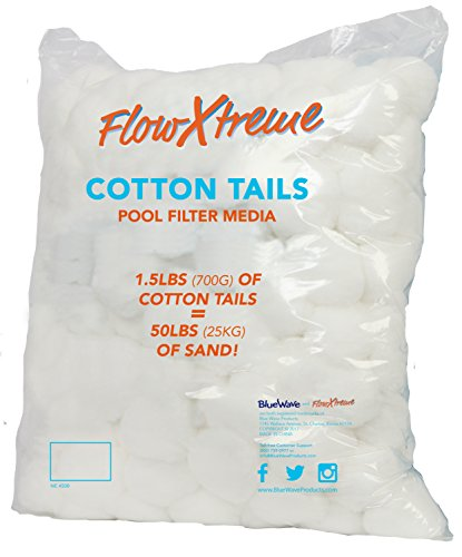 FlowXtreme NE4508 Cotton Tails Filter Media, 1.5-lbs (Replaces 50-lbs. Sand),Multicolored