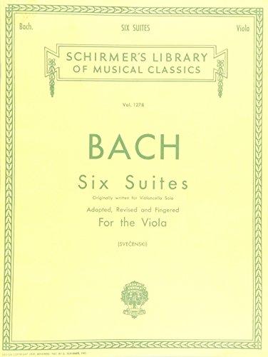 G. Schirmer 6 Suites for Unaccompanied Viola Originally for Violoncello By ()