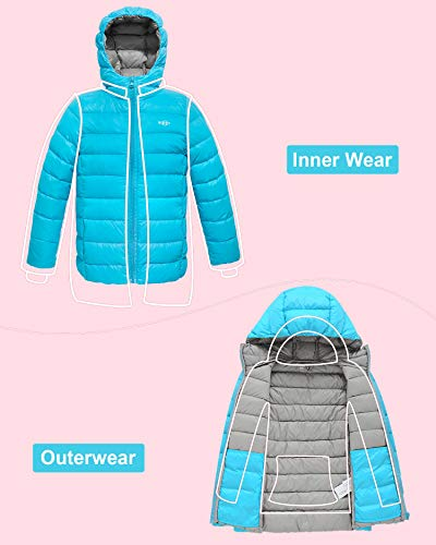 82570c8bfd0a Wantdo Girl s Lightweight Casual Winter Coat with Hood Down ...