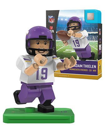 Oyo Sportstoys NFL Minnesota Vikings Sports Fan Bobble Head Toy Figures, Purple/Yellow, One Size