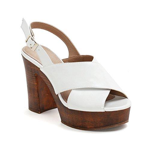 Alesya Sandali Scarpe amp;Scarpe Bianco Donna Alti 6fp6qxH