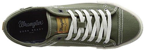 Wrangler Starry Low Canvas - Zapatillas Hombre Verde - Grün (20 MILITARY)