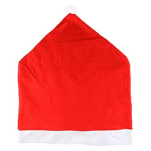 cappello di Babbo Natale coprised - SODIAL(R)4Pcs creativo cappello di Babbo Natale coprisedie