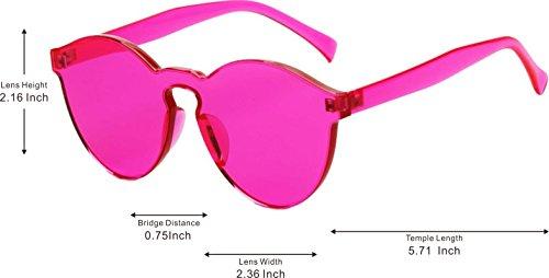 Gafas Hombres Rose Para Mujeres Sol Red Retro Unisex Lente GLASSES Adulto de J Gafas Gafas amp;L Coloreado XxqHHt