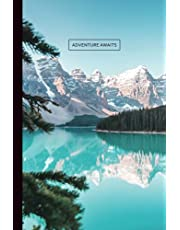 Notebook: Adventure Awaits Journal   Banff   Rocky Mountains   Blue Lake   Lined   Softcover   120 Pages (6 x 9 Inch)