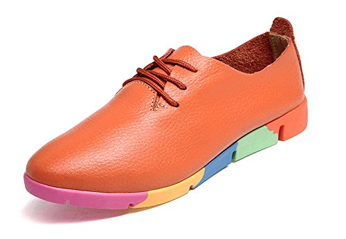 Kunsto Women's Leather Casual Oxford Shoes (UP TO 60% OFF)