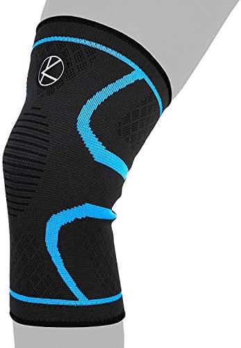 Compression Knee Sleeve for Runners- Best Knee Support for Arthritis Pain, Meniscus Tear, ACL, Pain, Injury, Knee Sleeve for Sleeping, Under Brace. Non-Slip Plus Size Knee Brace for Men, Women