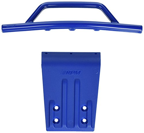RPM Front Bumper and Skid Plate for 2WD Slash, Nitro Slash, Blue (Rpm Front Skid Plate)