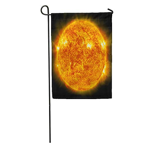 (Semtomn Garden Flag Orange Sun Global Warming Collage from Images NASA Gov Red Home Yard House Decor Barnner Outdoor Stand 12x18 Inches Flag)