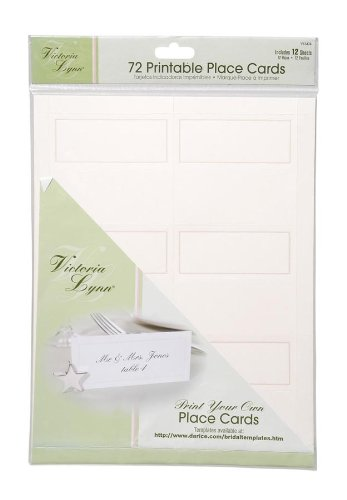 72-Count Place Cards Darice VL3474 12-Sheets Ivory