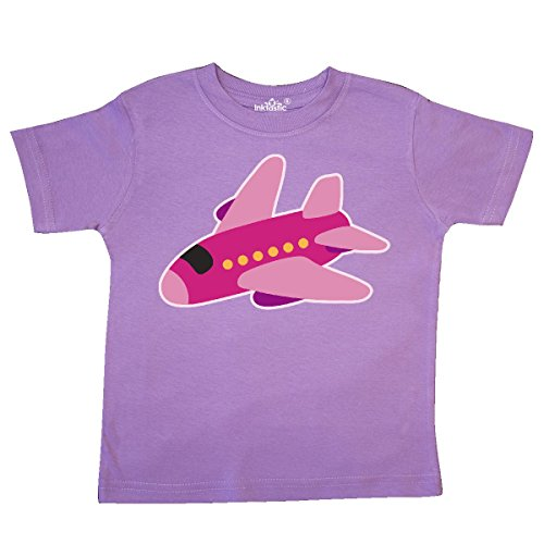 inktastic Girls Pink Airplane Pilot Toddler T-Shirt 2T Lavender 2e225 - Future Toddler T-shirt