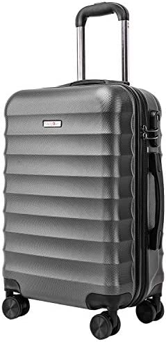CarryOne Hardside Carry on Luggage, Lightweight Suitcase with Spinner Wheels, 20 Inch Grey