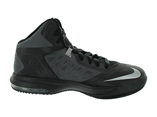 Nike Air Max Body U Tb Uomo Punta Tonda Scarpa Da Basket Nero Sintetico / Argento Metallizzato / Grigio Drk