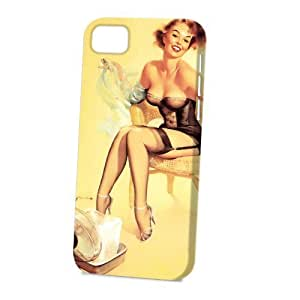 Case FunDiy For SamSung Galaxy S6 Case Cover Vogue Version - 3D Full Wrap - Cooling Off Pin Up Girl