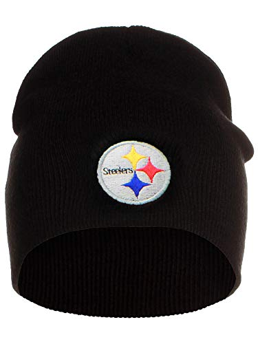(Reebok Pittsburgh Steelers Official NFL One Size Knit Beanie Stocking Hat Cap Pitt)
