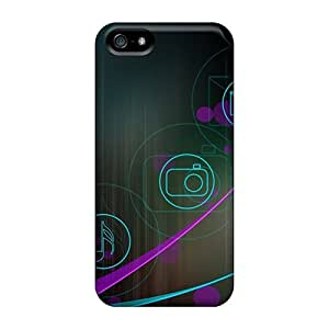 Durable Defender Case For Iphone 5/5s Tpu Cover(droid Designs)