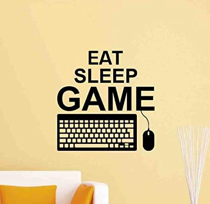 Etiqueta De La Pared Eat Sleep Game Gaming Vinilos ...