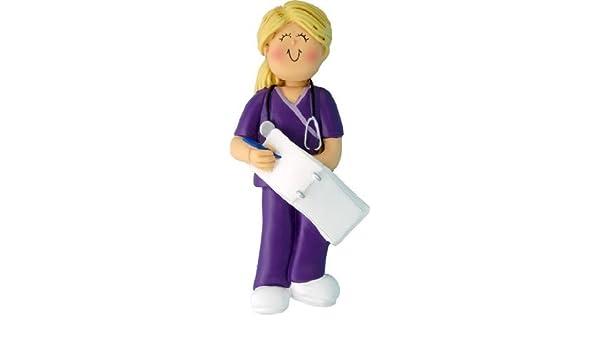 Adorno Central OC-230-FBL hembra para batas enfermera adorno de Navidad, 4 - 1/4-inch, rubia por adorno Central: Amazon.es: Hogar