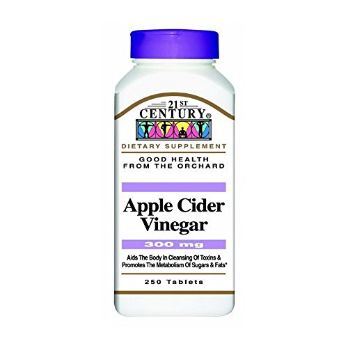 21st Century Apple Cider Vinegar 300Mg Tablets 250 Ct (5 Pack) (21st Century Apple Cider Vinegar 300 Mg)