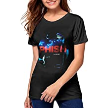 Women Phish A Live One Red Includes Download Classic Music Band Short Sleeves T Shirt Gift