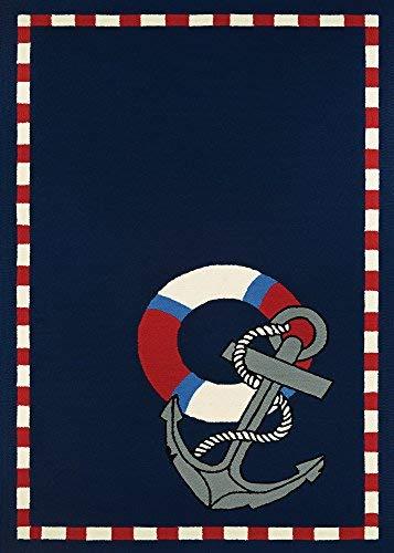 Couristan Escape Anchors Away Navy Indoor/Outdoor Area Rug, 8' x 11' from Couristan