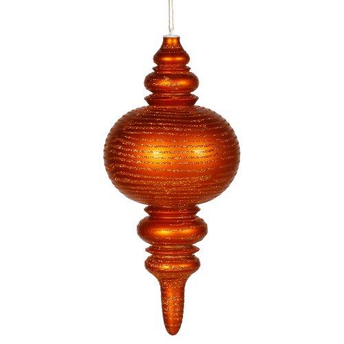 Vickerman Glitter Accented Matte Finish Shatterproof Finial Christmas Ornament, 13
