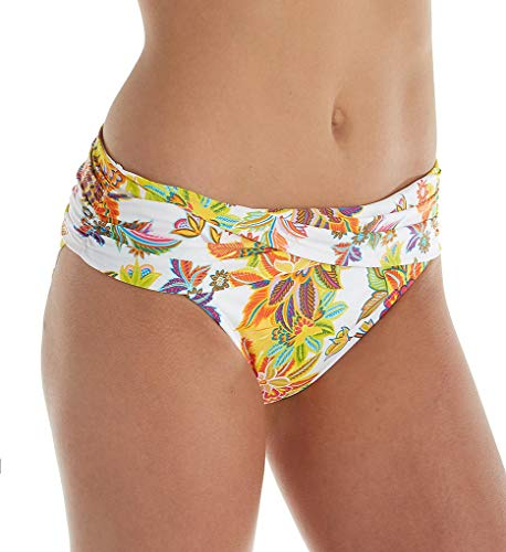 - Bleu Rod Beattie Women's Swimsuit Separates Let The Sunshine in Collection, Multi White Hipster Bikini Bottom, 4