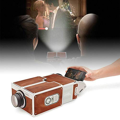 Yealsha DIY Cardboard Smartphone Projector Home Theater Mobile Phone Projector Portable Cinema from Yealsha